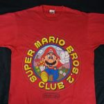1988 Nintendo Super Mario Bros. CLUB Graphic T-Shirt L Large Vintage USA