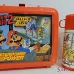 1989 Nintendo Power Lunch Pale Box Aladdin Thermos Mario Zelda