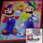 MARIO & LUIGI DREAM TEAM PROMO DISPLAY 2013 NINTENDO 3DS PARTS ZELDA