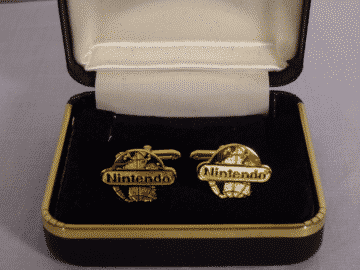 NINTENDO WORLD NEW YORK NY EXECUTIVE CUFF LINKS PROMO OFFICIAL USA