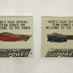 Nintendo Team Power Welcome Promotional Gold and Silver Pin Button Promo NES