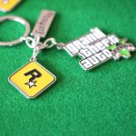 PS4 Xbox PC Rockstar Game GTA V Grand Theft Auto 5 Keychains For Men Fans HOT