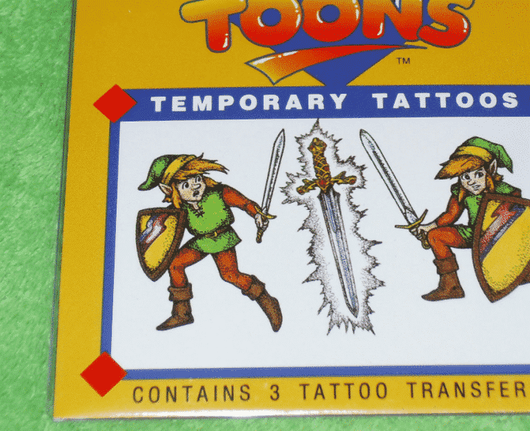 RARE 1992 Official Legend of Zelda NEW Vintage Tattoo 1