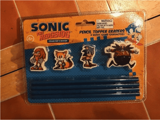 Sonic The Hedgehog Pencil Topper Erasers Collector's Edition Feature