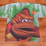 Vintage 1994 Super Nintendo Donkey Kong Country Promo T-Shirt