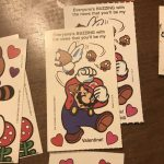 Vtg Super Mario Brothers Greeting Card Nintendo 1989 Valentines Princess Peach 4