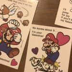 Vtg Super Mario Brothers Greeting Card Nintendo 1989 Valentines Princess Peach 8