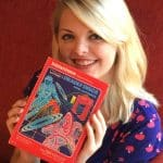 Happy Girl Holding 982 Complete Original Intellivision Tron Video Game