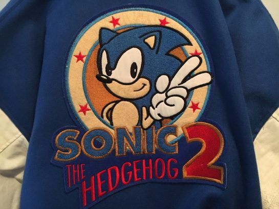 Sonic The Hedgehog 2 Baseball Varsity Jacket Rare Vintage with tag SEGA Medium