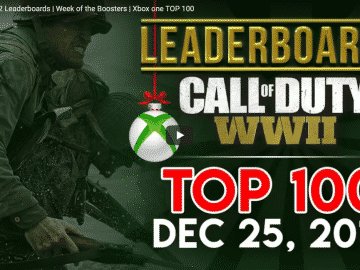 Call of Duty WWII Leaderboards - Top 100 - Xbox One - Dec 25, 2017
