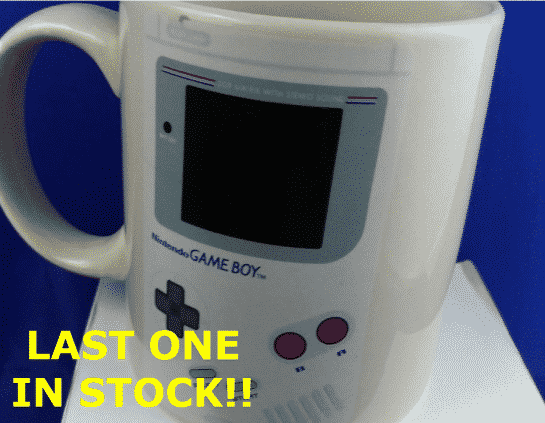 Exclusive Official Nintendo GAMEBOY Heat Change COFFEE CUP mug by CultureFly Feat