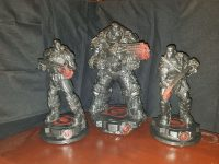 Gears of War CHAOS Edition Statues Marcus + Dom + Boomer Set Mindzeye LE