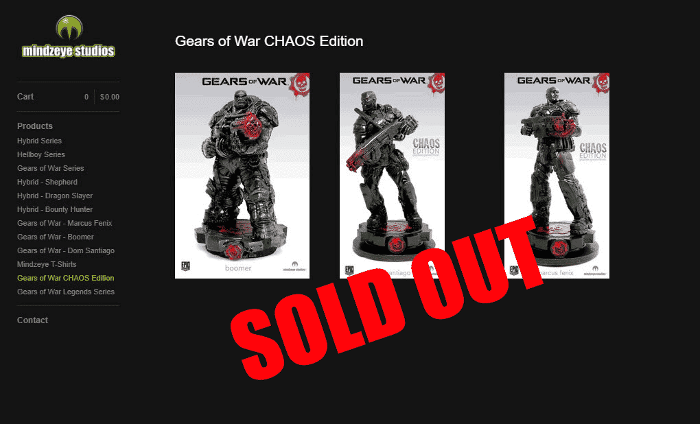 Gears-of-War-CHAOS-Edition-Statues-Marcus-+-Dom-+-Boomer-Set-Mindzeye-LE--Microsoft