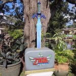 Legend of Zelda Skyward Sword Promo Statue Holiday Mall Tour 2011 Nintendo Display 1