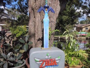 Legend of Zelda Skyward Sword Promo Statue Holiday Mall Tour 2011 Nintendo Display