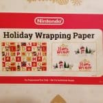 Nintendo Holiday Wrapping Paper Promo Item Gift Wrap Lot 2