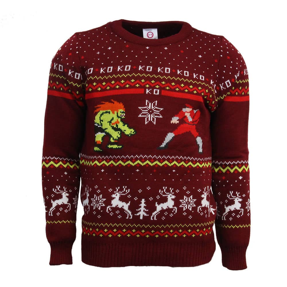 Official Street Fighter Blanka vs Bison Ugly Christmas Sweater