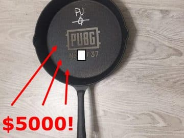 PlayerUnknown's Battlegrounds PubG Pan Signed By Brandon Greene Feat