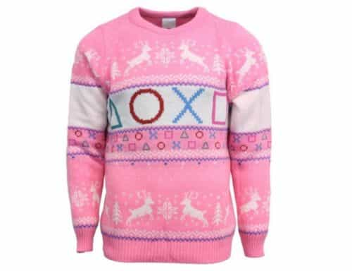 Playstation Pink Buttons Ugly Christmas Sweater Official