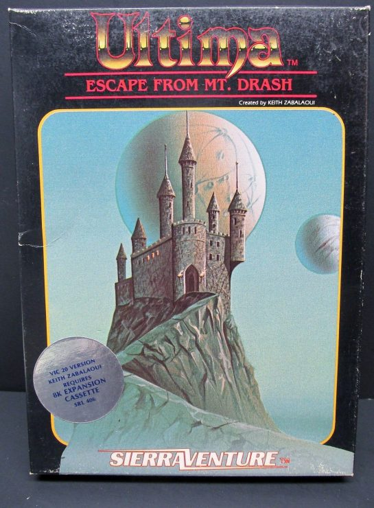 Ultima Escape from MT. Drash Commodore VIC 20 Cassette Sierra Adventure New