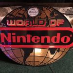 World of Nintendo Retro Sign Globe Gaming NES SNES Display Vintage classic Store Fet