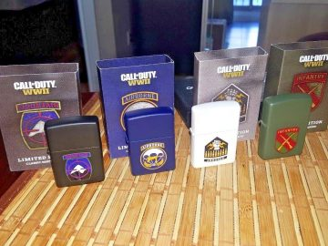 Call of Duty WWII WW2 Lighter Zippo Armored Infantry Airborne Mountain Limited Edition Activision