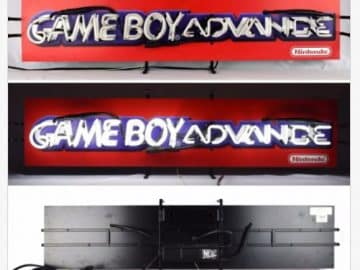 GAMEBOY ADVANCE Neon Light Up Store Display Sign Nintendo Logo VTG