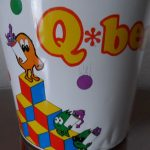 Vintage Mylstar 1983 Qbert Tin Garbage Can--Awesome Collectors Item