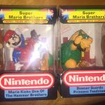 2 Nintendo NES Trophy Figures Bowser Guards Princess & Mario Kicks Hammer Bro