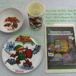 NITF! LINK Legend of Zelda Nintendo Cereal Bowl Plate & Cup Set Peter Pan +Bonus