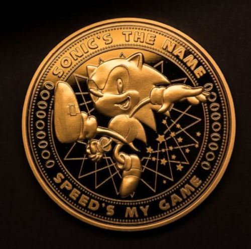 Sonic the hedgehog Collectors Gold Coin