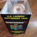 U.S.LAUNCH SEPTEMBER 1996 NINTENDO 64 OFFICIAL COMMEMORATIVE WATCH-NEW IN BOX