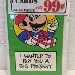 Lot Of Three NOS Nintendo Mario Bros 1989 Cards Birthday Cards Promotional