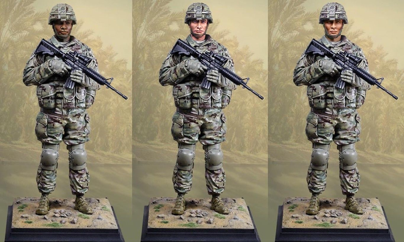 COLLECTIBLE YOU CALL OF DUTY CY60001 U.S. ARMY AMERICAN SOLDIER STATUE MIB 2