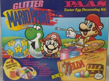 Nintendo Mario Paint Zelda Link Paas Easter Egg Decorating Kit 1993 Vintage NIB Feature