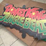 Donkey Kong Jungle Beat promo display standee in factory box