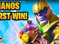 FORTNITE Marvel THANOS GAMEPLAY 1st EVER BATTLE ROYAL WIN!