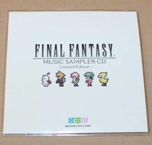 Final Fantasy Limited Edition Music Sampler CD Square Enix Gamescom 2016 Nycc