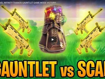 Fortnite Marvel Infinity Thanos Gauntlet Game Mode Victory