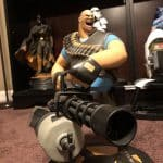 Gaming Heads Team Fortress 2, Tf2 Heavy Statue polystone resin collectible
