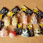 Japan Banpresto POKEMON Glow-in-the-Dark Keyholders FULL SET OF 8 soft vinyl