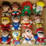 Japan Capcom STREET FIGHTER II Plush Toys Full Set of 12 1990s SF2 ufo catcher