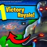 PVPNite YouTube - Fortnite Season 4 First Victory! (14 Kill Solo Win Game Dusty Divot)