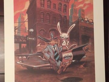 Sam & Max Steve Purcell Signed Telltale Games Season 1 Print PC Gaming Lithograph Lucasarts