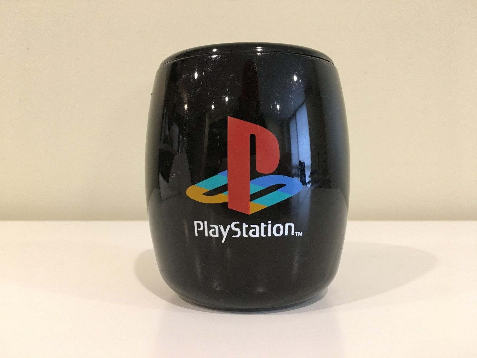 Sony PlayStation 1 Vintage Original Classic Logo Pen Pencil Holder Cup Authentic