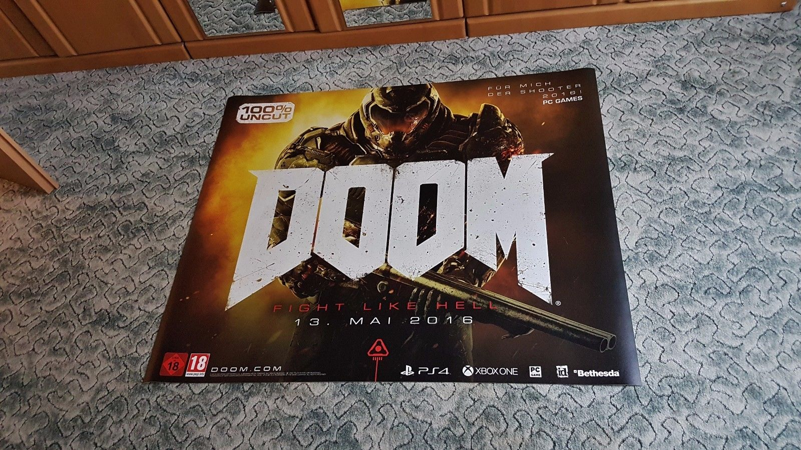 Biggest DOOM Collection in the World Game Poster PC Gaming id Software Carmack Romero Hall Petersen McGee Green