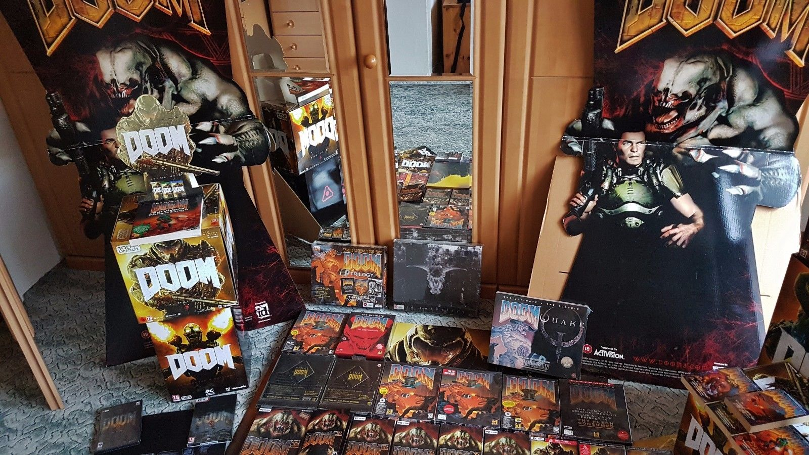 Biggest DOOM Collection in the World Video Game PC Gaming id Software Carmack Romero Hall Petersen McGee Green 2