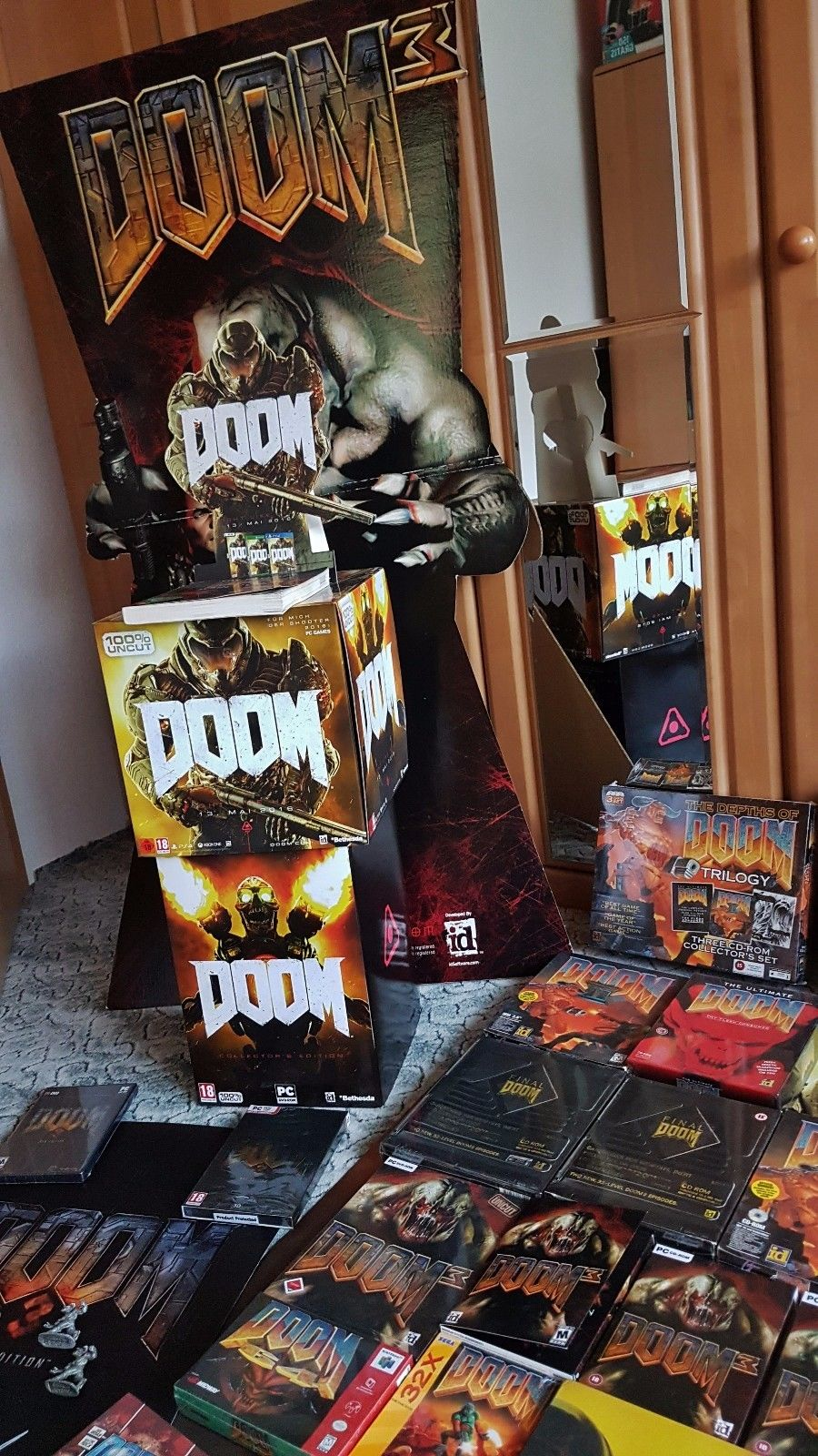 Biggest DOOM Collection in the World Video Game PC Gaming id Software Carmack Romero Hall Petersen McGee Green 5