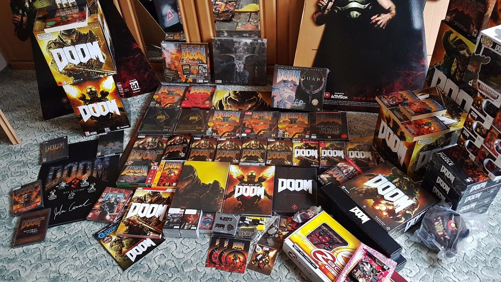 Biggest DOOM Collection in the World Video Game PC Gaming id Software Carmack Romero Hall Petersen McGee Green 7