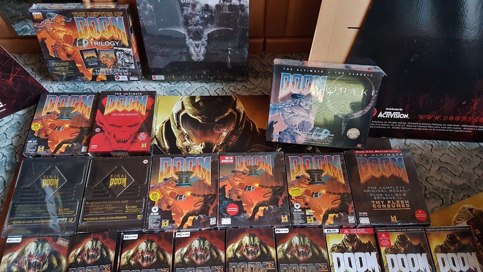 Biggest DOOM Collection in the World Video Game PC Gaming id Software Sealed Brand New In Boxx CIB NIB 2